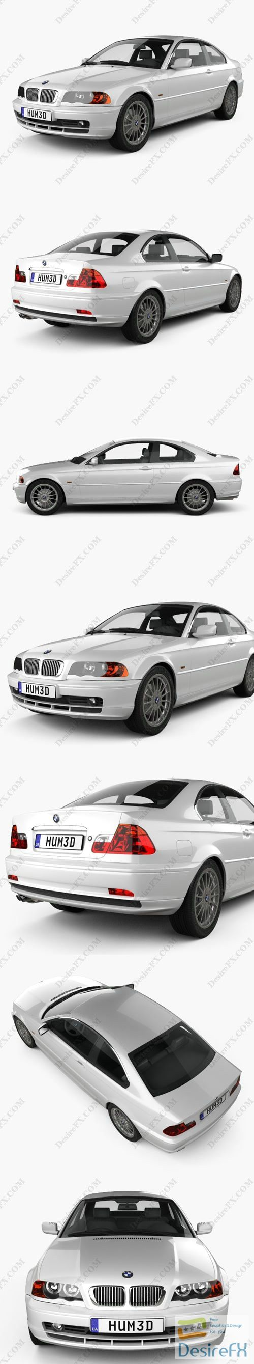 BMW 3 Series coupe 2004 3D Model
