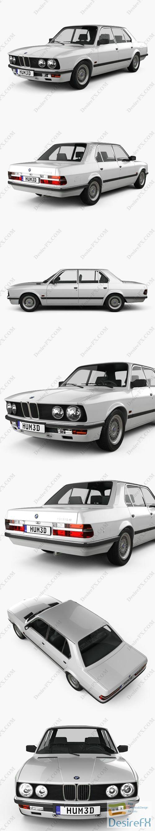 BMW 5 Series sedan 1987 3D Model