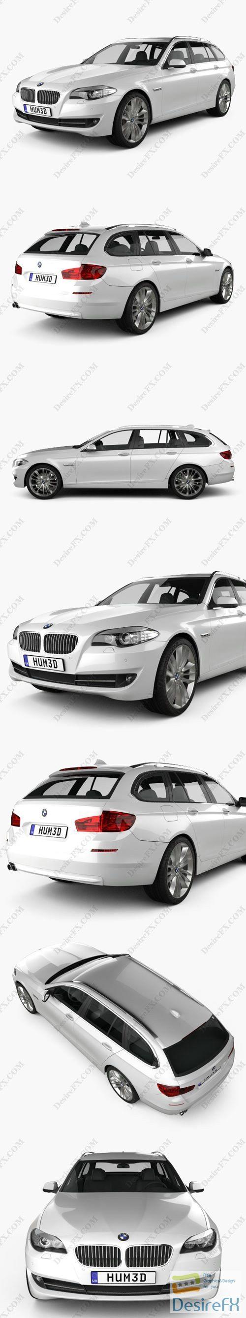 BMW 5 series touring 2011 3D Model