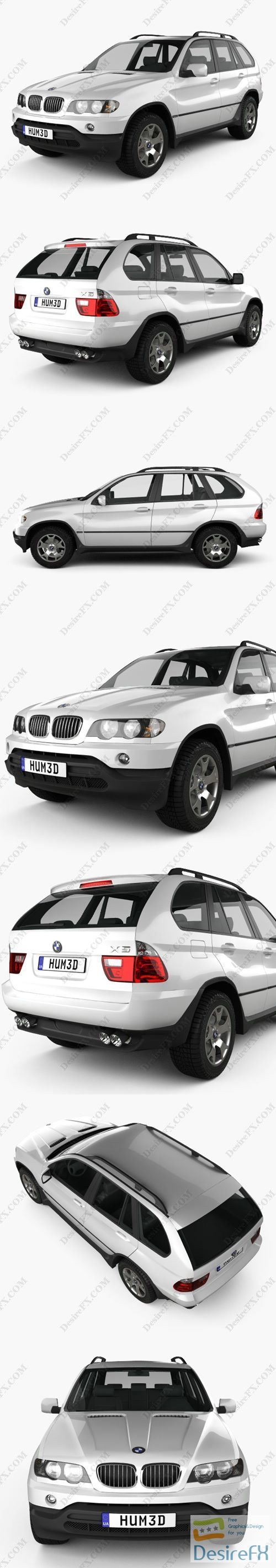 BMW X5 2000 3D Model