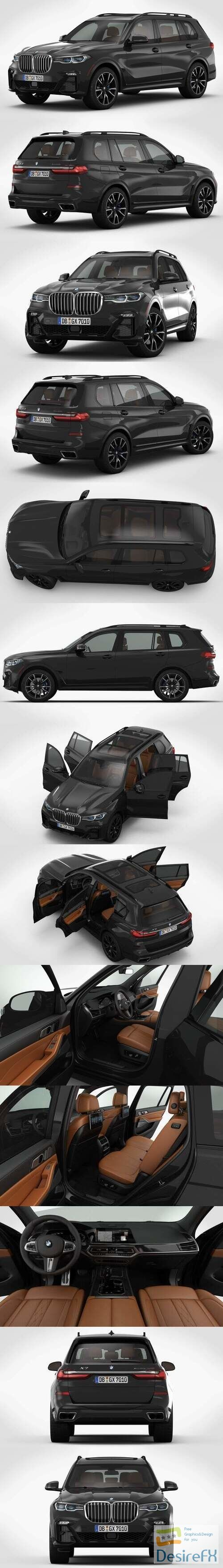 BMW X7 2019 SUV 3D Model