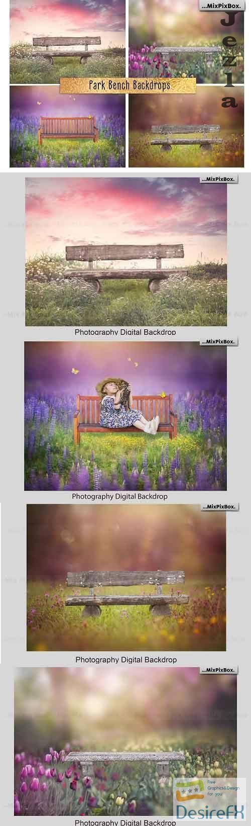 Park Bench Backdrops - 5013302