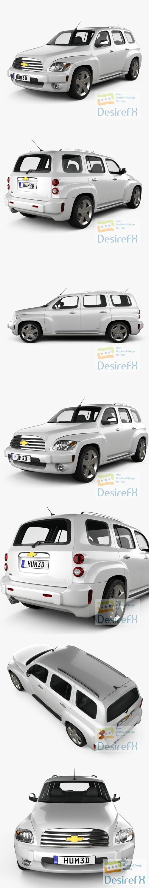 Chevrolet HHR wagon 2011 3D Model