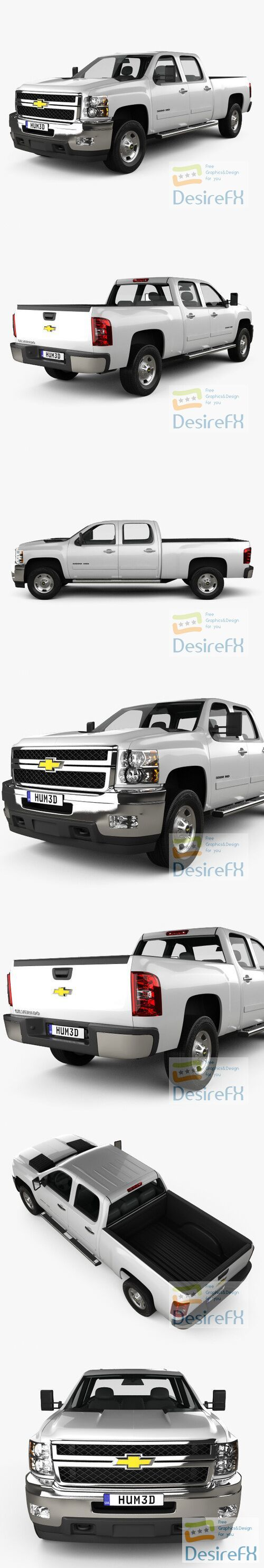 Chevrolet Silverado HD Crew Cab Standard Bed 2011 3D Model