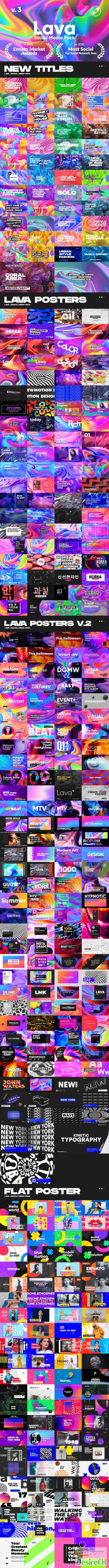 Videohive - Lava | Social Media Pack V3 - 24118486