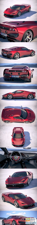 Ferrari SP38 Deborah 2019 3D Model