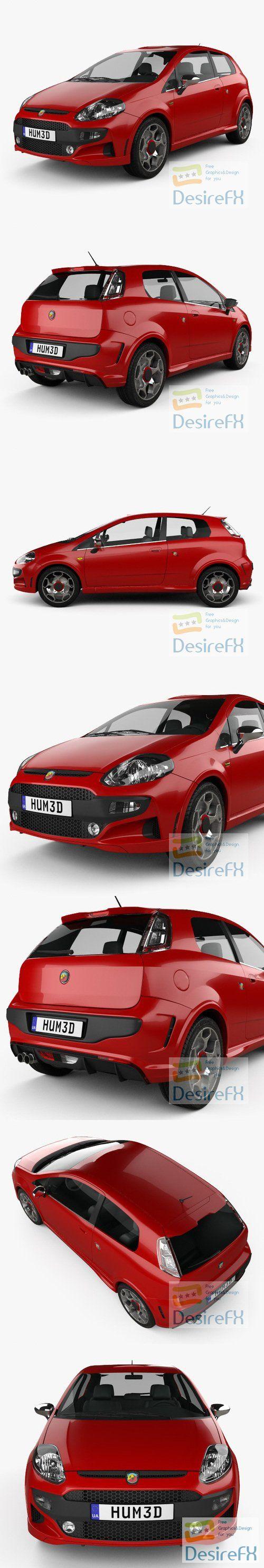 Fiat Punto Evo Abarth 2011 3D Model