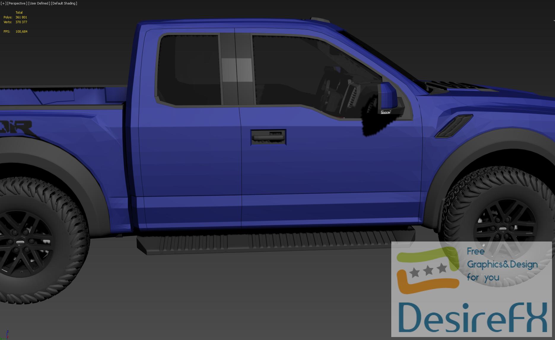 Ford F-150 Raptor 2017 NO SMOOTH 3D Model