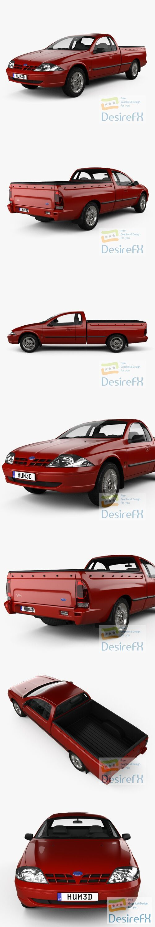 Ford Falcon UTE XLS 2000 3D Model