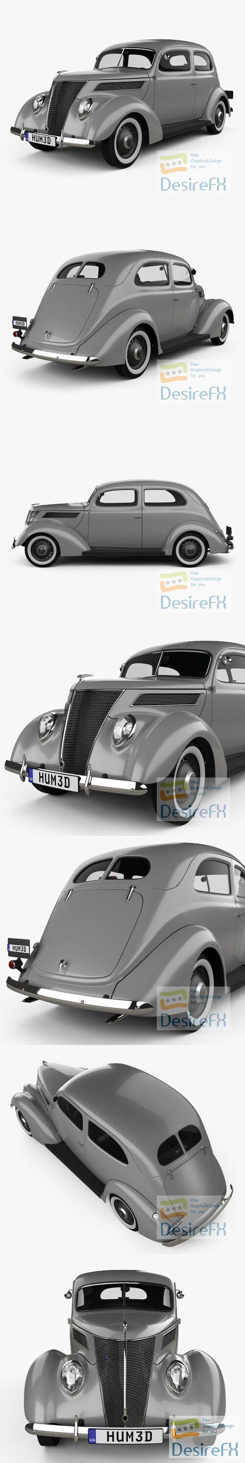 Ford V8 Model 78 Standard Tudor Sedan 1937 3D Model