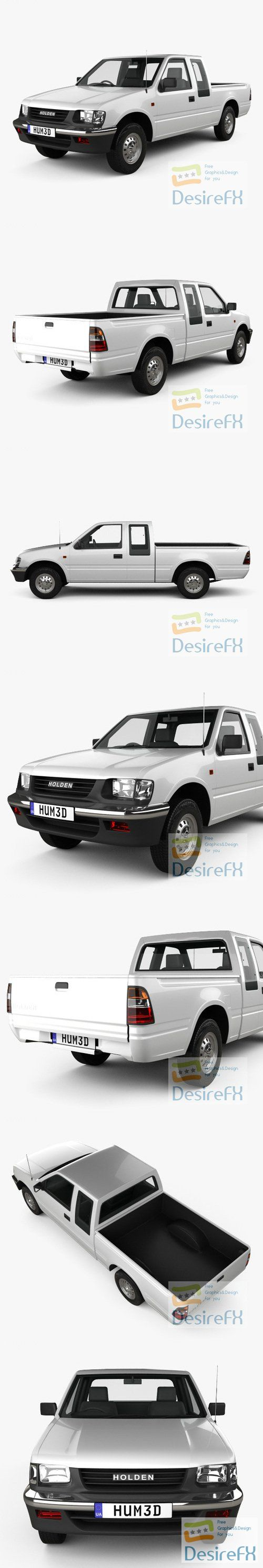 Holden Rodeo Space Cab 1997 3D Model
