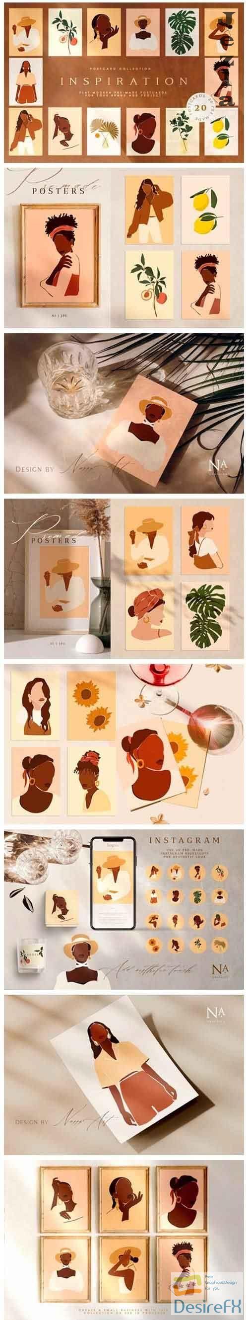 Inspiration Postcard Collection - 5067411