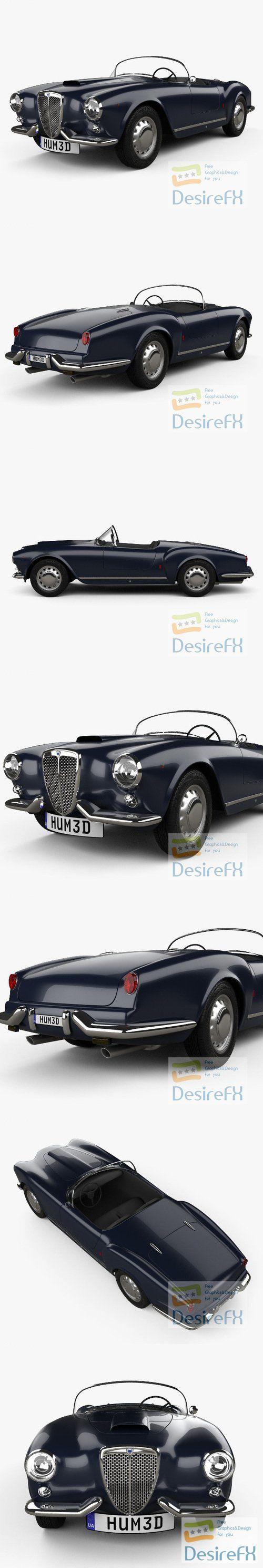 Lancia Aurelia GT convertible 1954 3D Model
