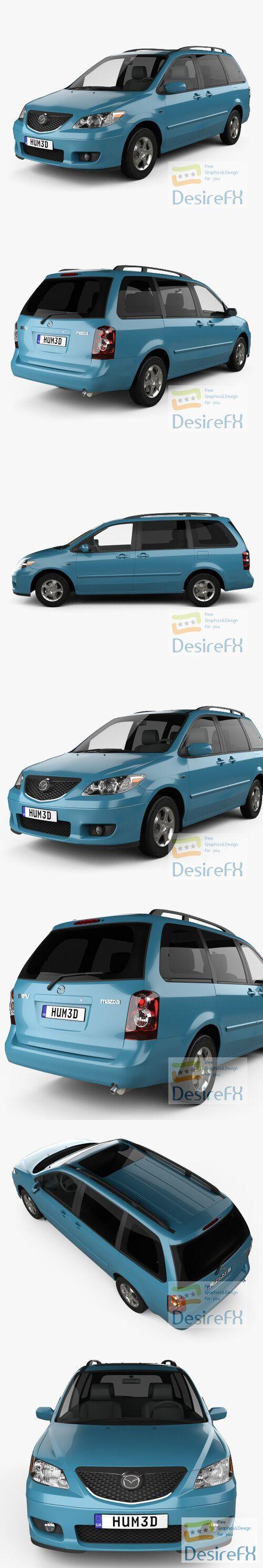 Mazda MPV 2002 3D Model