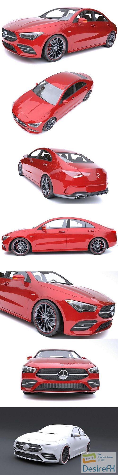 Mercedes-Benz CLA AMG 2020 3D Model