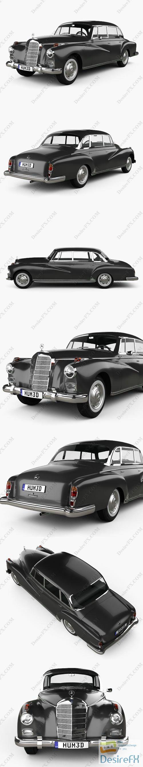 Mercedes-Benz 300d 1957 3D Model