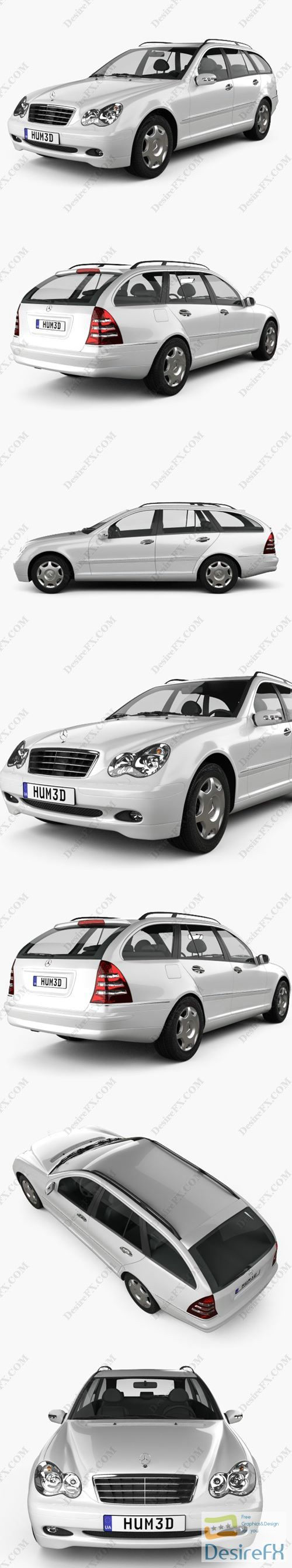 Mercedes-Benz C-Class estate 2005 3D Model