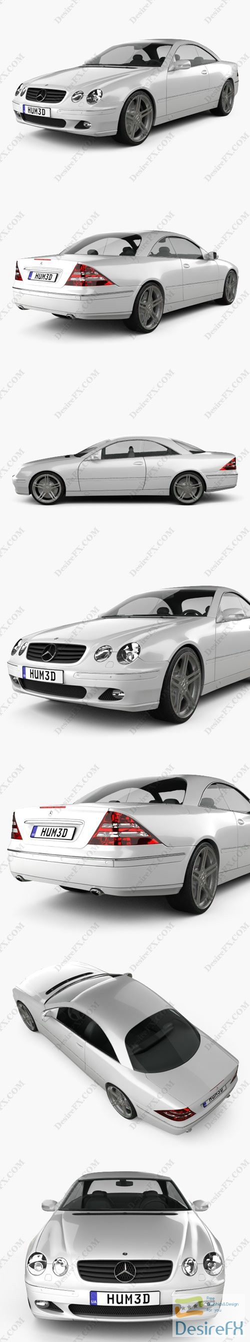 Mercedes-Benz CL-Class 2006 3D Model