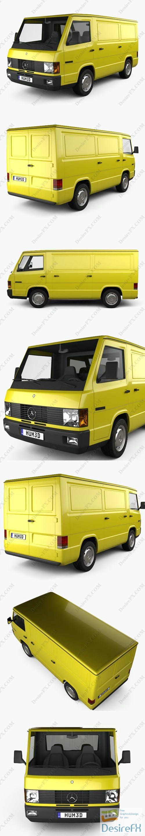 Mercedes-Benz MB100 Panel Van 1988 3D Model