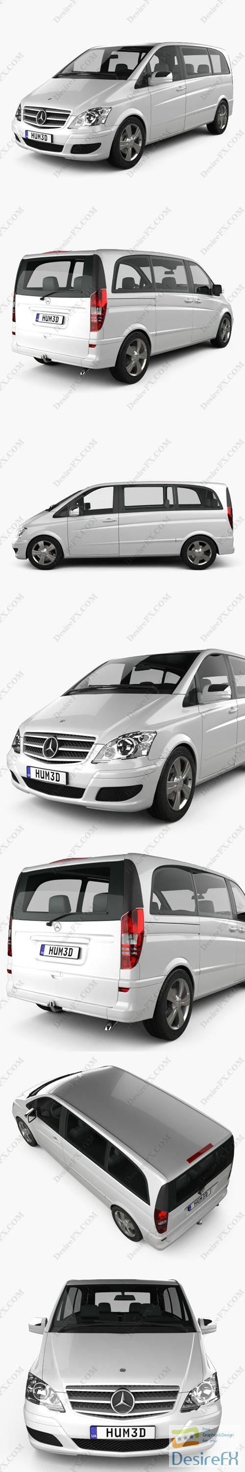 Mercedes-Benz Viano Compact 2011 3D Model