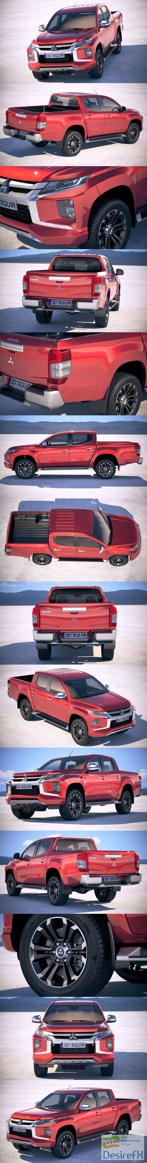 Mitsubishi L200 Crew Cab 2019 3D Model
