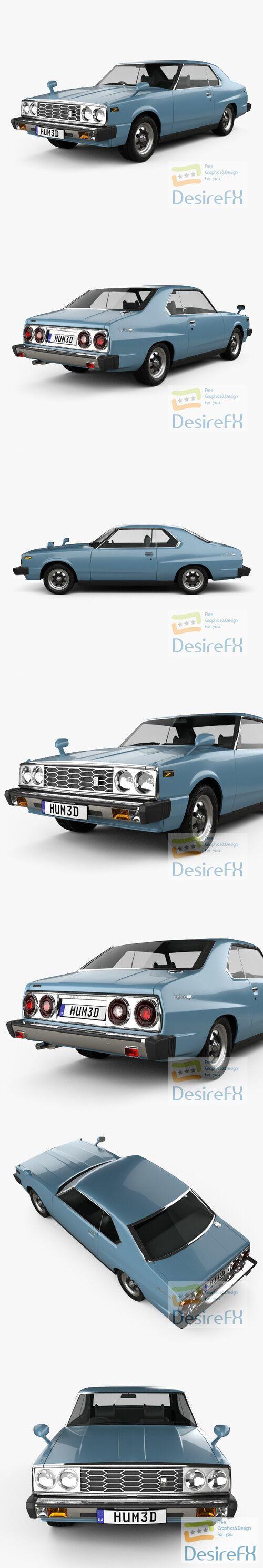 Nissan Skyline GT Coupe 1977 3D Model