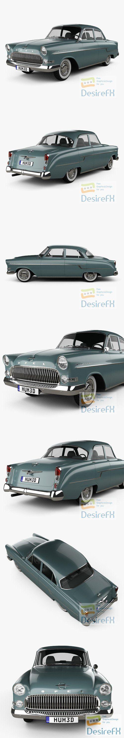 Opel Kapitan 1956 3D Model