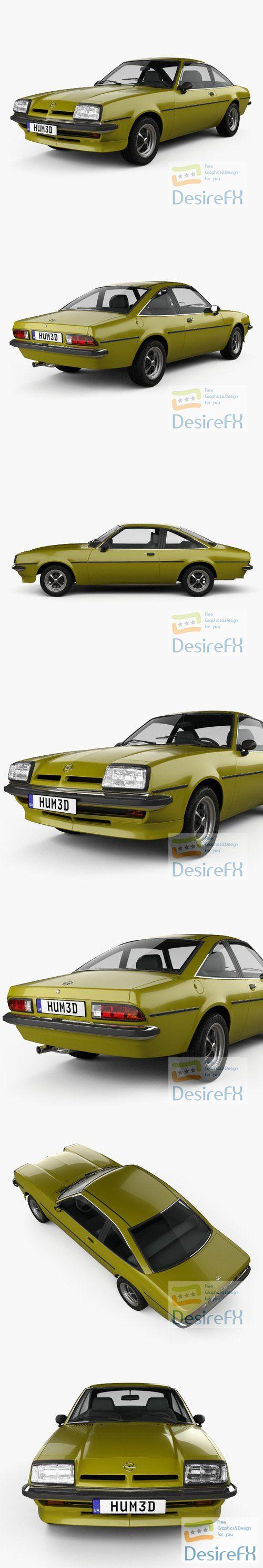 Opel Manta 1975 3D Model