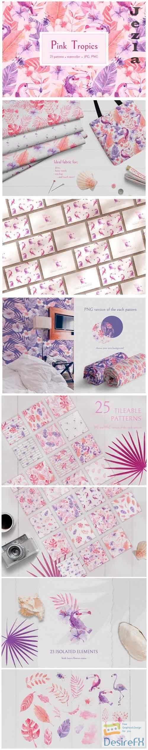 Pink Tropics Patterns 5069676