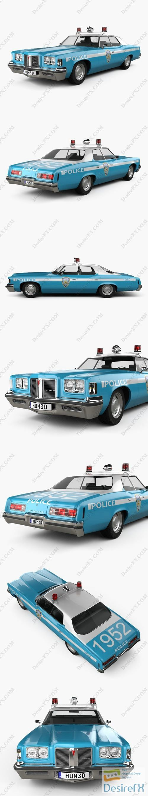 Pontiac Catalina Police 1972 3D Model