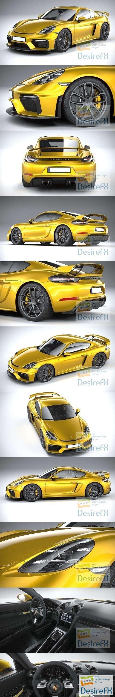 Porsche 718 Cayman GT4 2020 3D Model