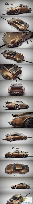Porsche 911 (930) Turbo 1975 3D Model