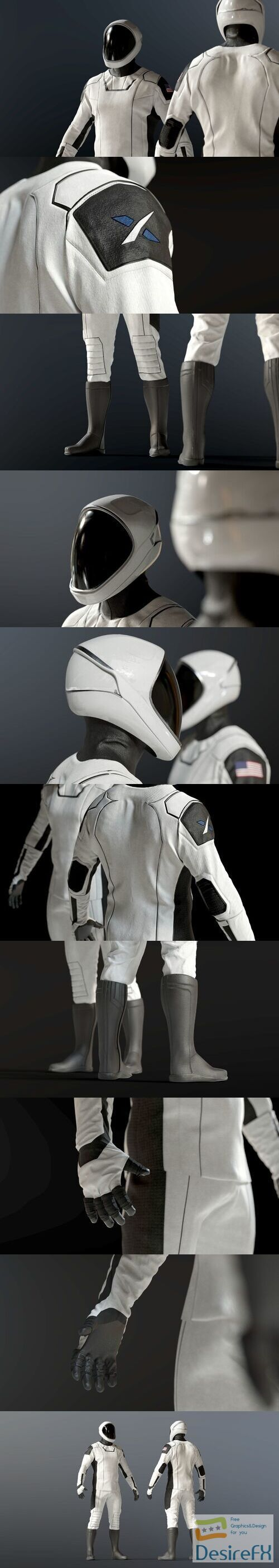 SPACESUIT SpaceX Dragon Starman 3D Model