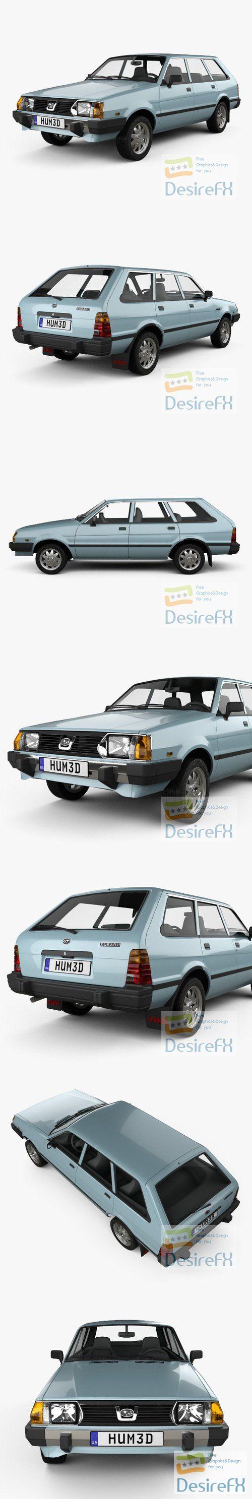 Subaru Leone estate 1978 3D Model