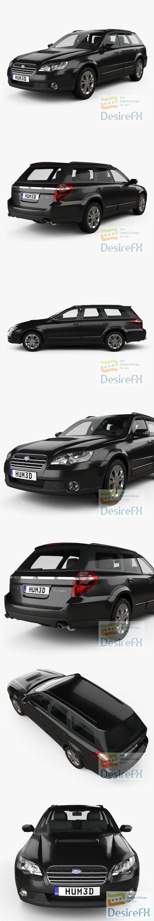Subaru Outback 2008 3D Model
