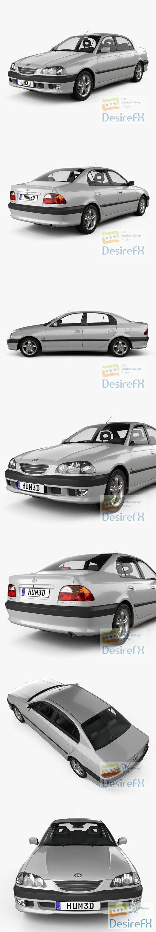 Toyota Avensis 1997 3D Model