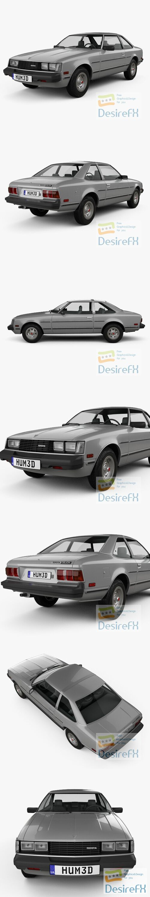 Toyota Celica ST Coupe 1979 3D Model