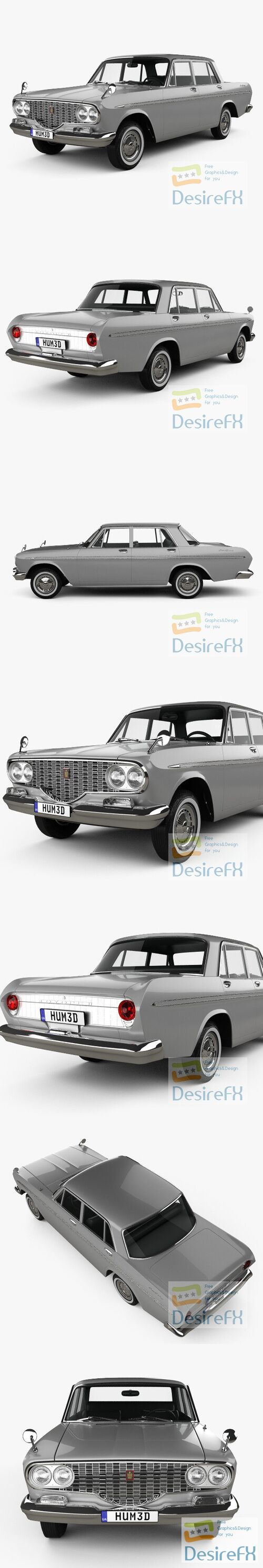 Toyota Crown 1962 3D Model