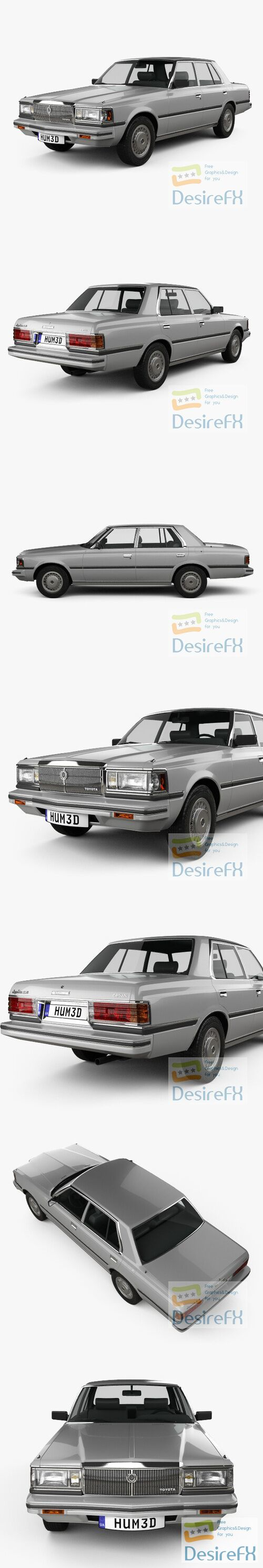 Toyota Crown Super Saloon 1982 3D Model