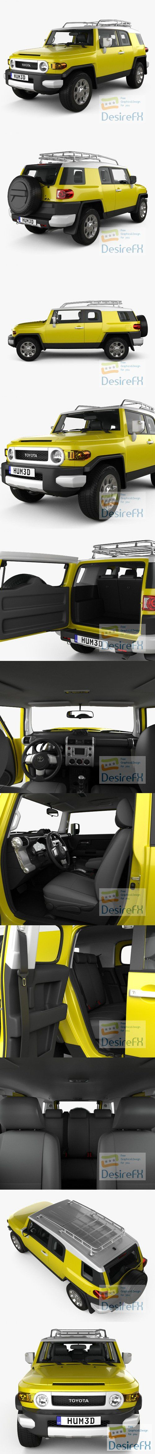 Toyota FJ Cruiser with HQ interior 2010 3D Model