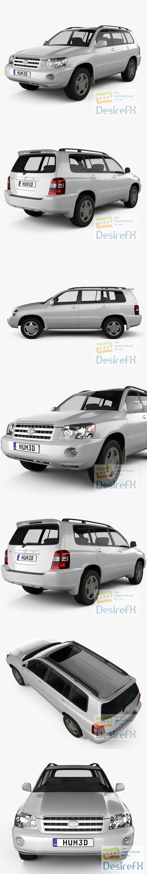 Toyota Highlander 2003 3D Model