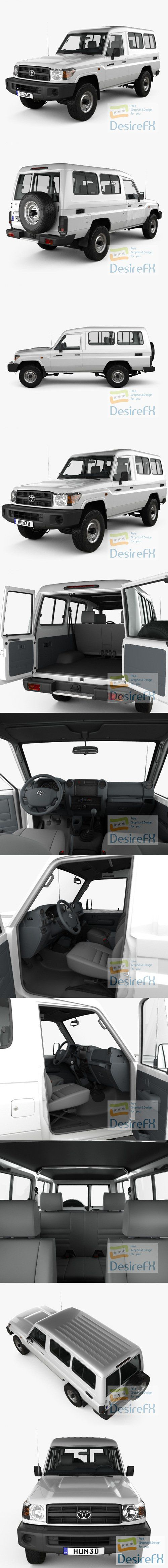 Toyota Land Cruiser Wagon with HQ interior 2010 3D Model