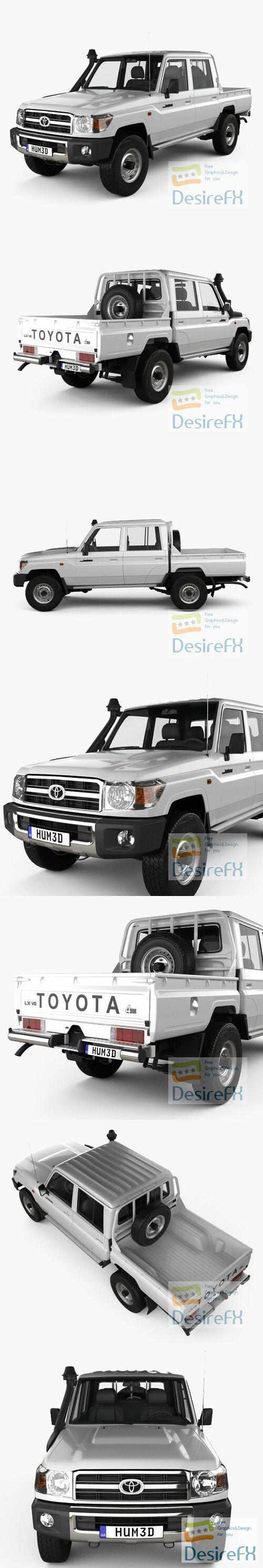 Toyota Land Cruiser Double Cab Pickup 2012 3D Model