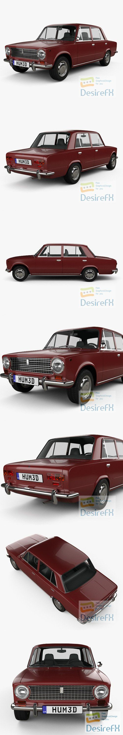 VAZ 2101 Zhiguli 1970 3D Model