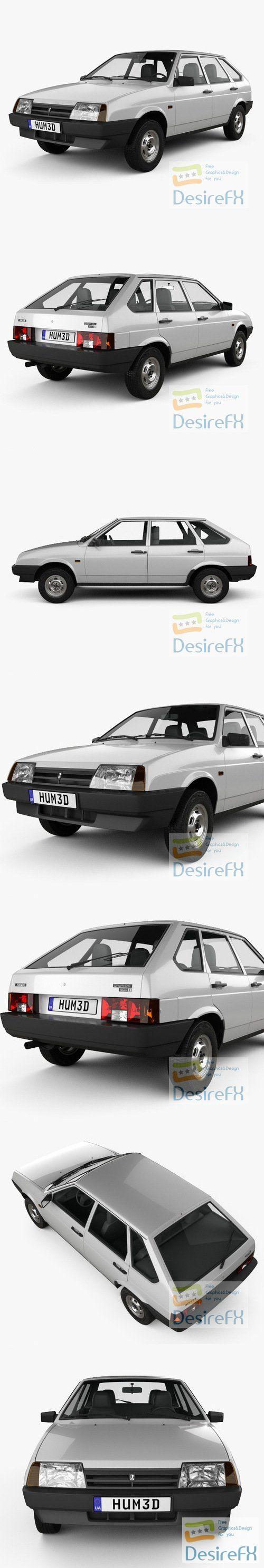 VAZ Lada 2109 1987 3D Model