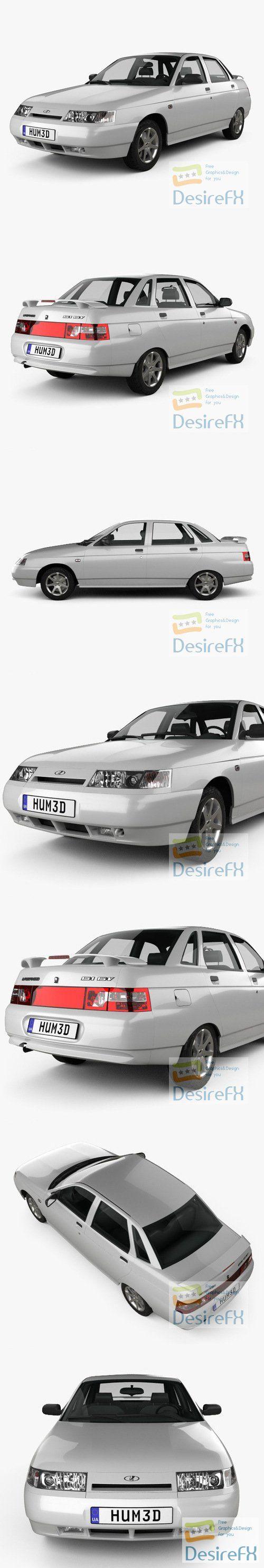 VAZ Lada 2110 sedan 1995 3D Model
