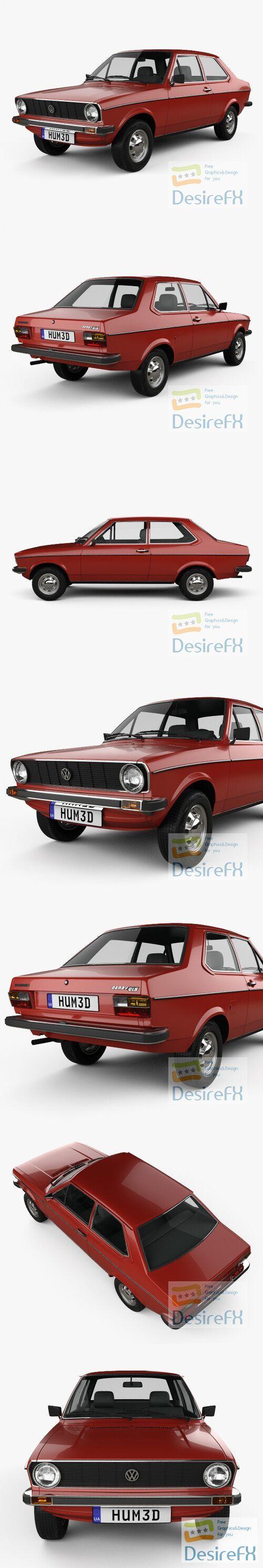 Volkswagen Derby 1977 3D Model