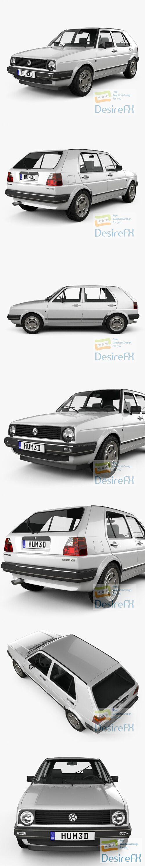 Volkswagen Golf 5-door 1983 3D Model