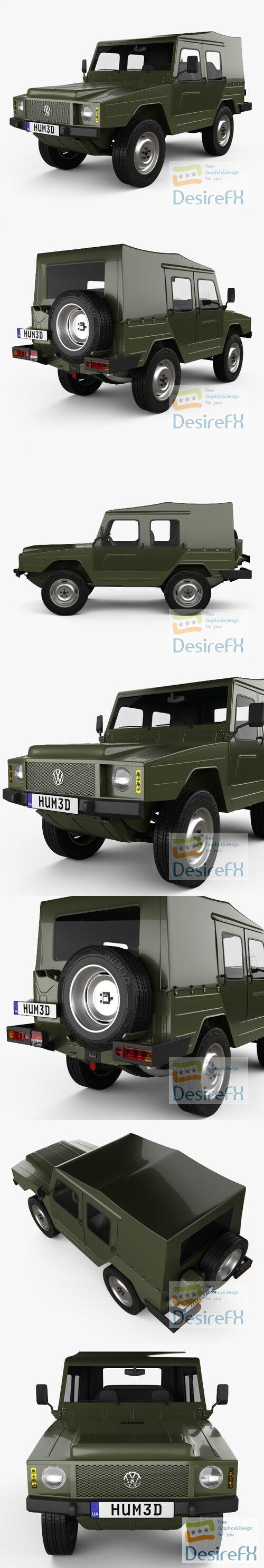 Volkswagen Iltis 1978 3D Model