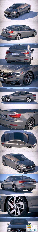 Volkswagen Jetta GLI 2019 3D Model